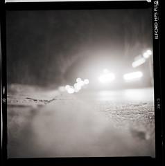 Interlude I (Arslan Ahmedov) Tags: street city white black 6x6 lights bulgaria medium ilford kiev88