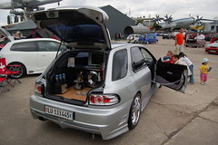 Jacatu-Treffen 2008 - Subaru Impreza GT - Bar im Kofferraum (BlaM4c) Tags: auto white car bar geotagged display screen voiture monitor coche subaru tuning impreza weiss speyer bildschirm subaruimpreza technikmuseum kofferraum colorwhite jacatu subaruimprezagt tuningtreffen japanesecartuning jacatu2008 kofferraumausbau