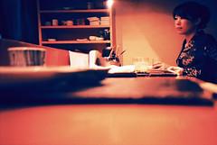 memoirs... (hurtingbombz) Tags: sushi hongkong lomo lca xpro crossprocessed tea velvia sake geisha kimono japanesegirl e2c 100f strangersinthenight sashimibar