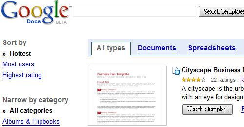 Google Docs - Templates