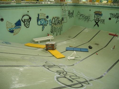 Pines Hotel Pool Graffiti