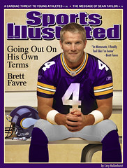 Brett Favre In Minnesota Vikings Uniform On Sp...