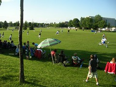 soccer in the park