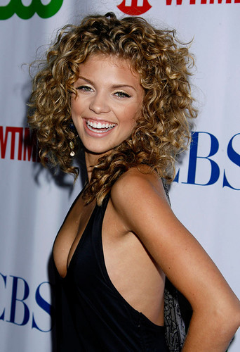AnnaLynne McCord arrives at the CBS, CW & Showtime Press Tour St by new90210fan.com.