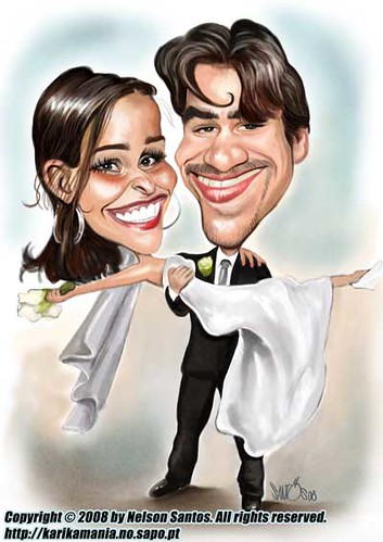 Wedding Invitation Caricature, Caricature, comics, characters, Wedding Invitation, wedding cakes, flowers, invitation, photos, gowns, dresses