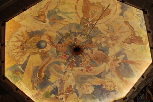 Griffith Observatory - Hugo Ballin Dome Painting