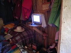 Inside the house (nicolasnova) Tags: peru uros titicaca electricity