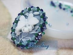 Picture-178ss (BeeJang - Piratchada) Tags: crystal handmade jewelry bead swarovski beadwork beadweaving