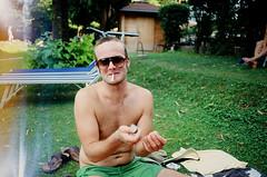 Fabian (Christian Pitschl) Tags: 2 summer lake slr film analog swimming 35mm see schwimmen 8 olympus christian negative 28 analogue om 35 2008 zuiko om2 kleiner negativ 2835 835 spiegelreflex smallpicture kleinbild 128mm montiggl 835mm f35mm 2835mm montiggler christianpitschl pitschl