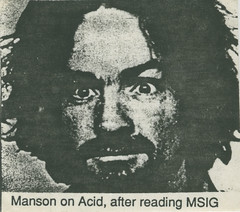 Charles Manson (Patrick Houdek) Tags: blue trees red house water animals rock lost army for is illinois los punk cross sandra time o susan tate good air acid swastika patrick sharon charles mikey lsd hills tex hardcore atwater watson cult murder atkins beverly feliz now carbondale superstar snot voodoo fromme manson squeaky fanzine hov helter skelter msig labianca houdek of atwa houseovoodew voodew photobypatrickhoudek