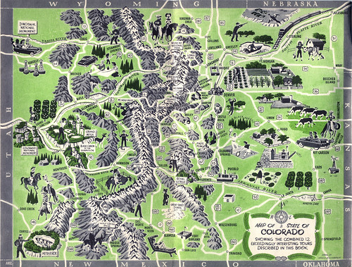 Old Travel Brochures a set by StevenM61 – Tourist Map Of Colorado