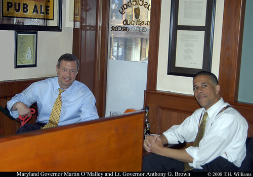 Maryland Governor Martin O'Malley and Lieutenant Governor Anthony G. Brown 54987