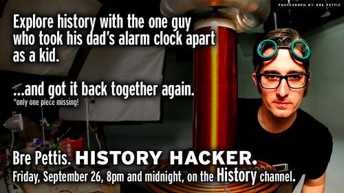 History Hacker, TONIGHT, 8pm & Midnight on History