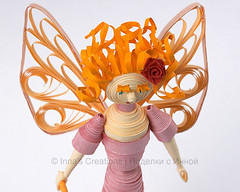 Red haired fairy (closeup). 3D quilling