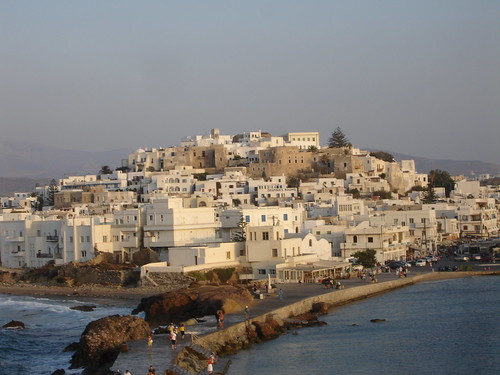 view to the town of Naxos by you.