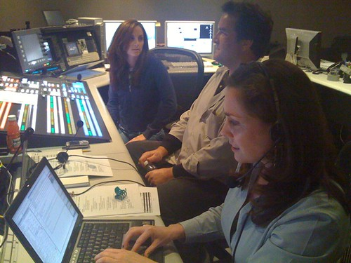Chloe, Mike & Christine in Production Control Room