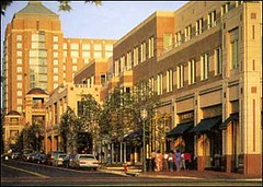 one of RTC's main streets (by: Equity Office at Reston Town Center)