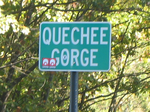 Quechee Gorge sign