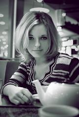 (alekseyz) Tags: portrait sexy girl face fashion closeup hair cafe eyes tea lips blonde beautifull