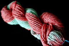 recycled yarn - dyed 2-color