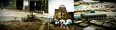 Before & After & Now (cathycracks) Tags: japan museum architecture model ruins triptych destruction ruin worldheritagesite hiroshima  umbrellas hiroshimaken atomicbomb worldheritage abomb abombdome hiroshimadome  atomicbombdome  hiroshimapeacememorial hiroshimapeacememorialpark hiroshimapeacememorialmuseum  goodfishiescom