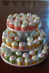 Baby Shower Mini Cupcake Tower (TheLittleCupcakery) Tags: baby tower shower little mini cupcake tlc cupcakery xirj klairescupcakes