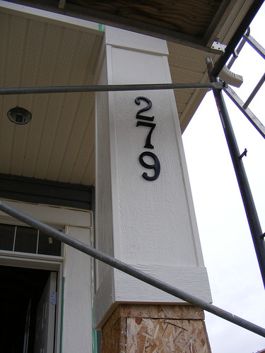 Our house number is up!!!!
