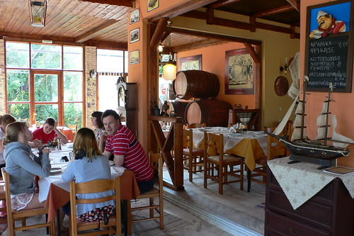 Sunday lunch in a Greek Taverna