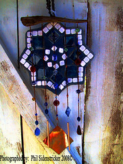 Artistic Windchime (phil_sidenstricker) Tags: wood art metal artistic gorgeous stainedglass copper windchime donotcopy opague valleyofthesunphoenixmetro upcoming:event=981998 southmountainfarmphoenixazusa