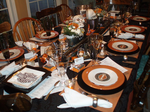 Dining Delight: Harley Davidson Tablescape