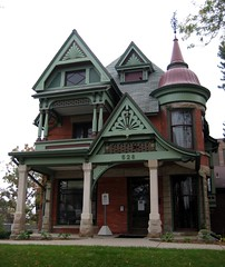 Rogers-Carrier House (Eridony) Tags: house downtown michigan queenanne lansing historic explore turret lcc lansingcommunitycollege explored featuredonexplore constructed1891 rogerscarrierhouse