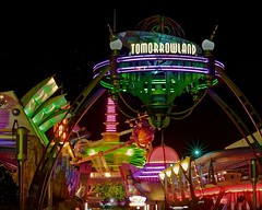 Magic Kingdom - Tomorrowland (Matt Pasant) Tags: longexposure motion blur night hub canon orlando energy buzzlightyear florida wed celebration kinetic mickeymouse wdw waltdisneyworld tomorrowland mgmstudios monstersinc spacemountain waltdisney tta astroorbiter wdi imagineer carouselofprogress stitchsgreatescape tomorrowlandtransitauthority mickeysnotsoscaryhalloweenparty 40d waltereliasdisney magickindrom