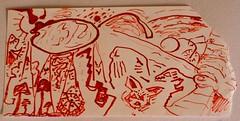 viajecito (artesdelmonje) Tags: sobre fibra papelito