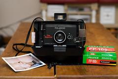 I fell off the wagon (vandyll.net) Tags: polaroid reporter fujifilm landcamera packfilm colorpack instantfilm fp100c hbw polaroidreporter