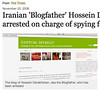 Iranian 'Blogfather' Hossein Derakhshan is arrested on charge of spying for Israel - Times Online_1227219900889
