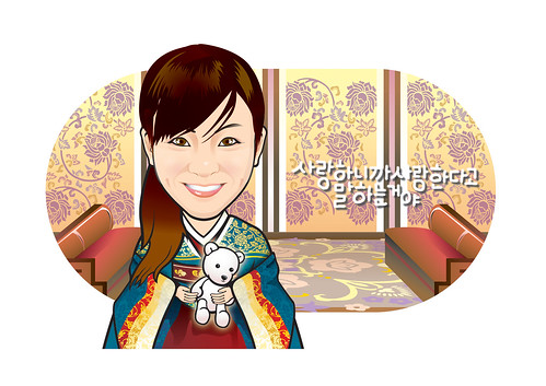 Q-Digital caricature - Korean lady