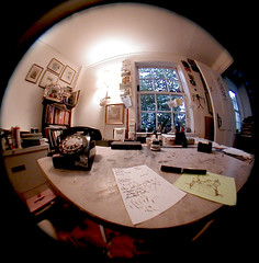 Edward Gorey's Work Space & Desk (Chris Seufert) Tags: house film museum work photography book photo photographer desk capecod documentary drawings views yarmouth bostonist edwardgorey mooncusserfilms