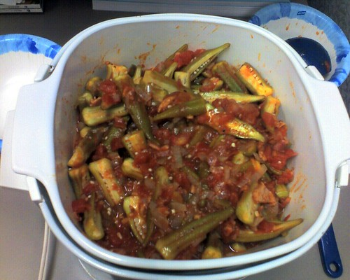 Okra, Tomatoes and Bacon
