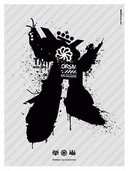 ORSM  errorism (KRFX / FX3) Tags: streetart japan illustration poster logo g