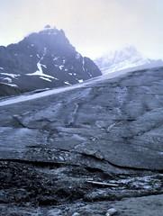 gm_11213 Icefields Parkway Glacier Alberta 1971 (CanadaGood) Tags: white mountain snow canada color colour analog rockies 1971 jasper ab slidefilm glacier alberta rockymountains kodachrome geology seventies jaspernationalpark columbiaicefields icefieldsparkway athabascaglacier canadagood slidecube