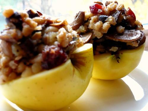 Mushroom & Barley Stuffed Apples