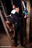 Bonnie & Clyde (Balázs B.) Tags: girl boy brown beauty fashion pose chainsaw lány fiú szép csinos divat láncfűrész dorci dannyblue canon 40d strobist canonef24105mmf4lisusm makita
