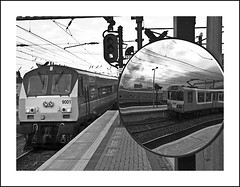 IMG_A350910fl (Photolab.AJ) Tags: ireland bw dublin irish white black station train canon ir mirror republic spiegel stock platform peak rail railway trains class rush hour transit area multiple commuter express celtic dietrich enterprise ie sein electrical signal railways zwart wit isle rapid emerald dart rolling 8100 services trein spoor intercity 201 spoorwegen treinen elektrisch ierland the units stoptrein eireann cie ire connolly g9 iarnrd 9001 piek iarnrod u spitsuur materieel stisin iers photolabaj chonghaile