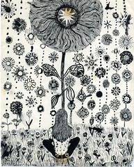 Annie the hippie (Rejean Pellerin) Tags: flower pen ink drawing memory annie hippie oldies seventies flowerpower annes70