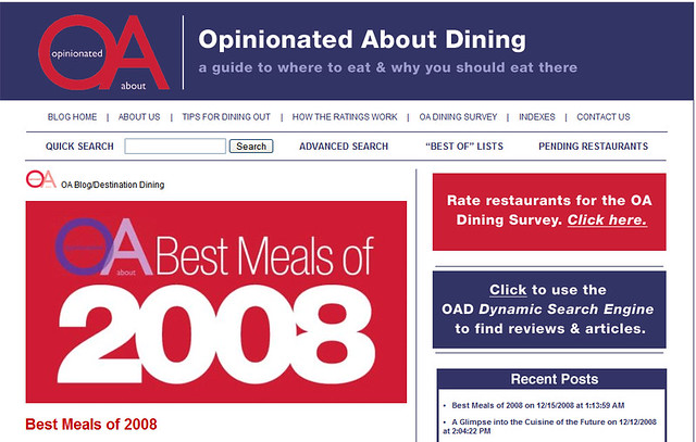 Best Meals of 2008