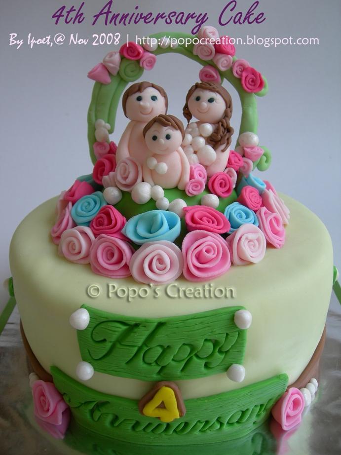 4th Anniversary Cake