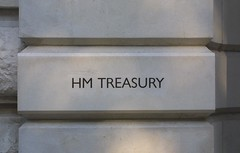 HM Treasury entrance sign