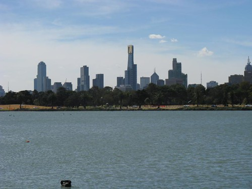 The city from Albert park