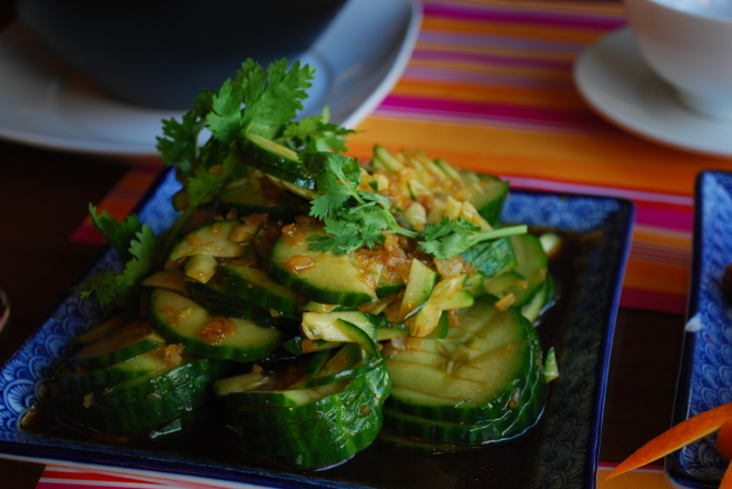 garlicky, vinegared sichuan cukes