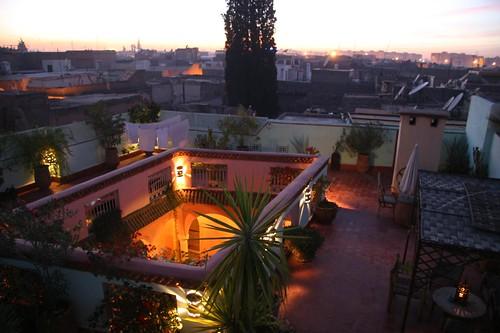 terrace riad merstane marrakech morocco